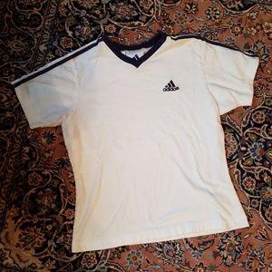 Vintage 90s Adidas v neck top